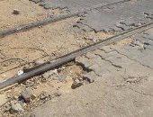 قارئ يطالب بإصلاح ورصف أرضية مزلقان فيكتوريا فى الإسكندرية