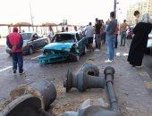 """مصرع شاب إثر حادث انقلاب سيارة بطريق """"زفتى- شرشابة"""" فى الغربية"""