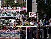 مسلمو أمريكا ينددون بالعنف ضد الروهينجا أمام مقر الأمم المتحدة