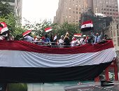 الجالية المصرية تجوب شوارع نيوريوك احتفالاً بوصول السيسى
