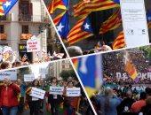 الآلاف يتظاهرون فى إقليم الباسك بإسبانيا تأييدا لاستفتاء كتالونيا
