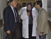 رئيس جامعة القناة يؤكد على ضرورة تواجد الأطباء بالعيادات الخارجية بالمستشفى الجامعى
