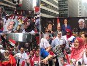 الجالية المصرية فى نيويورك تنظم وقفة تأييد للرئيس السيسي بأعلام مصر