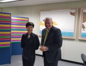 محمد العرابى يسلم نائب وزير خارجية كوريا الجنوبية رسالة لدعم مشيرة خطاب