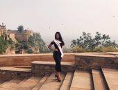 """بالفيديو .. 12 ملكة جمال من مختلف أنحاء العالم يرفعن شعار """"بحبك يامصر"""""""