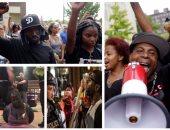 احتجاجات فى سانت لويس ضد تبرئة شرطى قتل أمريكيا من أصل أفريقى