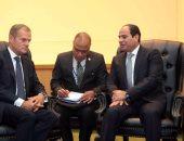 رئيس المجلس الأوروبى: ناقشت مع السيسى الوضع الإقليمى والتعاون بشأن الهجرة