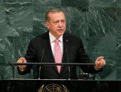 اشتباكات خلال خطاب أردوغان بنيويورك بعدما وصفه أحد الحضور بالإرهابى