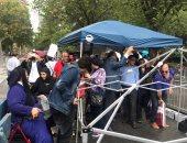 الجالية المصرية تتحدى الأمطار لدعم مصر والسيسي أمام الأمم المتحدة