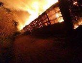إصابات إثر حريق بسوق فى مدينة بيشاور الباكستانية