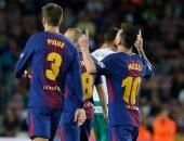 """شاهد.. ميسي """"السوبر"""" يقود برشلونة لإذلال إيبار بنصف دستة أهداف"""