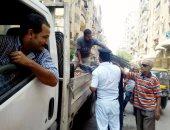حى السلام أول يشن حملة لرفع الإشغالات وأخرى للرقابة على المخابز