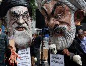 بالصور.. الإيرانيين فى أمريكا يتظاهرون ضد روحانى والخامنئى