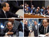 نشاط مكثف للرئيس السيسى خلال القمة الـ 72 للجمعية العامة للأمم المتحدة