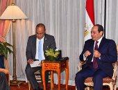 الرئيس السيسى يلتقى رئيس البنك الدولى خلال زيارته نيويورك