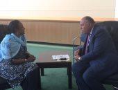 سامح شكرى يبحث مع وزيرة خارجية كينيا التعاون فى مجال مكافحة الفكر المتطرف