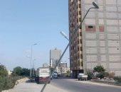 قارئ يحذر من عامود كهرباء آيل للسقوط على طريق المحمودية فى الإسكندرية