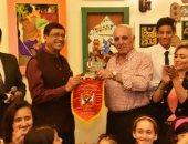 """بالفيديو والصور .. السفير الهندى يحضر """"المعرض الفنى"""" بالنادى الأهلى"""