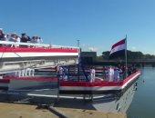 """بالفيديو.. لحظة رفع العلم المصرى على """"فرقاطة الفاتح"""" فى فرنسا"""