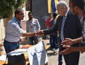 رئيس جامعة السادات يستقبل الطلاب الجدد بكلية الحقوق