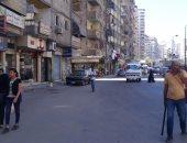 محافظة الإسكندرية تخلى شارع 45 من الإشغالات وتسهل حركة المرور