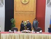 """رئيس """"الدستورية العليا"""" يفتتح مشروع ميكنة المحكمة بحضور وزير الاتصالات"""