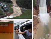 """انهيار سد """"جواجاتاكا"""" فى بورتريكو بسبب إعصار ماريا وفرار المئات من السكان"""