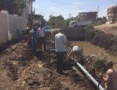 إصلاح خطى مياه شرب وحملة نظافة فى قرى مركز الزرقا بدمياط