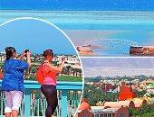 """جنة ملونة على شاطئ البحر الأحمر.. بالصور: """"الجونة"""" ضحك ولعب وجد و""""فن"""""""
