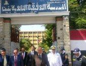 بالصور.. مدير أمن القاهرة يتفقد تأمين المدارس وتوزيع كتب بأهداف الشرطة