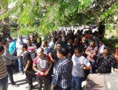 بالصور.. موظفو الأمن بجامعة بنها يطالبون بالتعيين