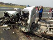 مصرع  3 أشخاص في حادث تصادم بطريق شبرا _ بنها بالقليوبية