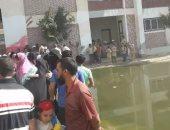 """شكوى من طفح مياه الصرف الصحي بفناء مدرسة """"الخاشعة"""" بكفر الشيخ"""