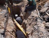 صرف القاهرة: استخراج حجارة من صرف شارع مصطفى عفيفى فى حلوان
