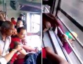 بالفيديو.. حاول سرقة هاتف راكبة بالمترو.. فكان العقاب قاسي!