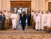 """بالصور..السيسى يحضر المجلس الأسبوعى لـ""""بن زايد"""" بمشاركة كبار مسئولى الإمارات"""