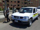 رفع 18 سيارة ودراجة بخارية متروكة فى حملات مرورية بشوارع الجيزة