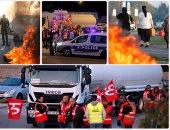 إضراب سائقى الشاحنات فى فرنسا احتجاجا على اصلاح قانون العمل
