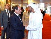 محمد بن زايد فى وداع الرئيس السيسى قبل مغادرته الإمارات