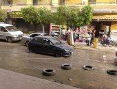 انفجار ماسورة مياه رئيسية بشارع الجيش بكفر الزيات بالغربية