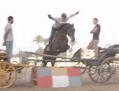 بالفيديو.. شاهد مهارات أحمد السقا فى ركوب الخيل