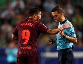 بالفيديو.. سواريز يرفض التسجيل فى شوط سلبى بين برشلونة وسبورتنج لشبونة