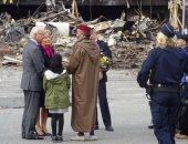 خلال زيارته للمسجد المحترق.. ملك السويد يؤكد على حرية المعتقدات الدينية