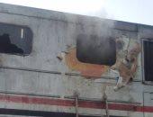 حريق بمقدمة قطار بورسعيد المتجه لسوهاج بمحطة منيا القمح بسبب ماس كهربائى
