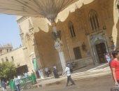 ننشر فيديو إخلاء مسجد الحسين عقب صلاة الظهر