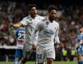 بالفيديو.. إيسكو يعزز تقدم ريال مدريد بالهدف الثالث فى لاس بالماس