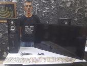 """القبض على كهربائى سرق صيدلية لشراء شاشة """"lcd"""" ومخدرات بالزاوية الحمراء"""