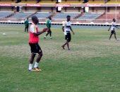 بالصور.. جون أنطوى يشارك لأول مرة فى مران غانا استعدادا لمباراة أوغندا