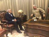 المبعوث الأممى لليبيا غسان سلامة يلتقى المشير حفتر فى مدينة بنغازى