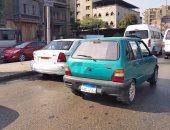 زحام مرورى أمام ماسبيرو بسبب اصطدام سيارة برصيف كورنيش النيل